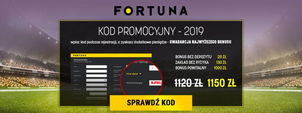Odbierz Kod Promocyjny bukmachera Fortuna